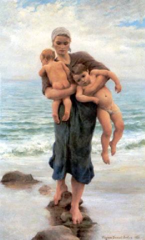 femme-de-pecheur-venant-de-baigner-ses-enfants