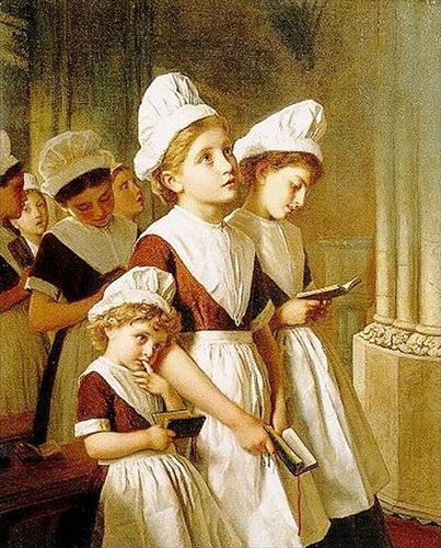 foundling-girls-in-their-school-dresses-at-prayer-in-the-chapel