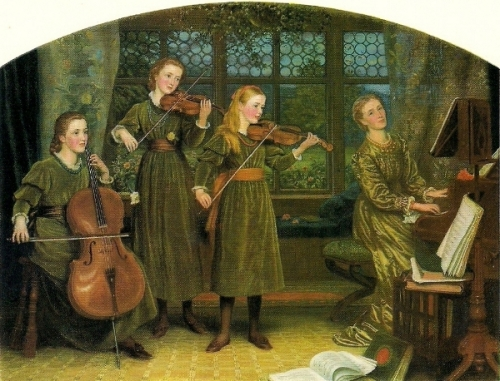Home Quartet (Mrs. Vernon Lushington And Her Daughters)