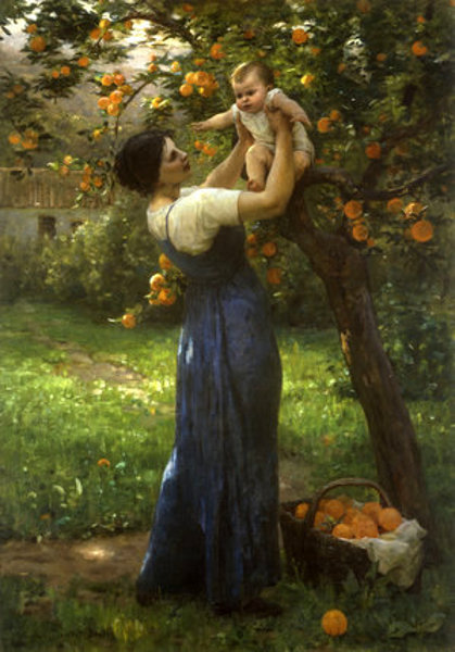 Virginie demont breton 1859 1935 french i am a child for Le jardin breton