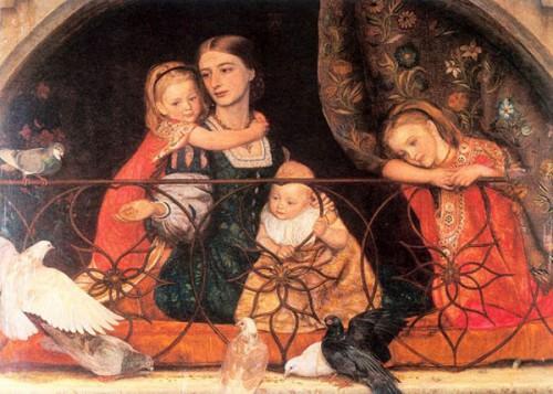 Mrs. James Leathart And Children