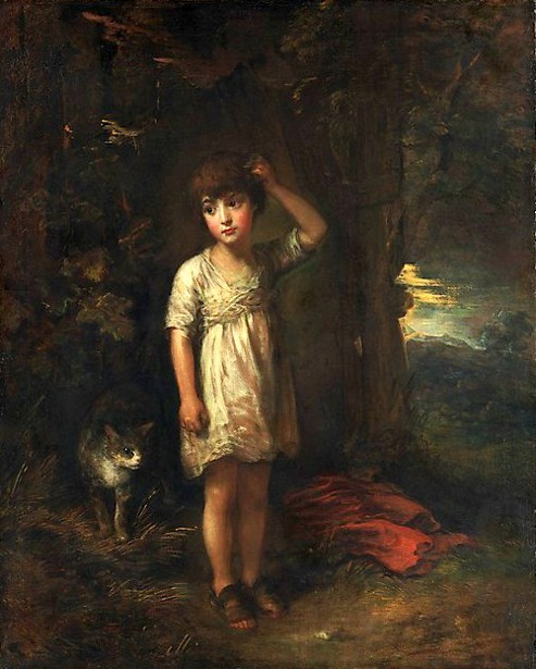 A Boy With A Cat - Morning