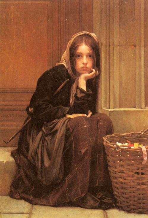 Christen Brun - A Basket Of Ribbons
