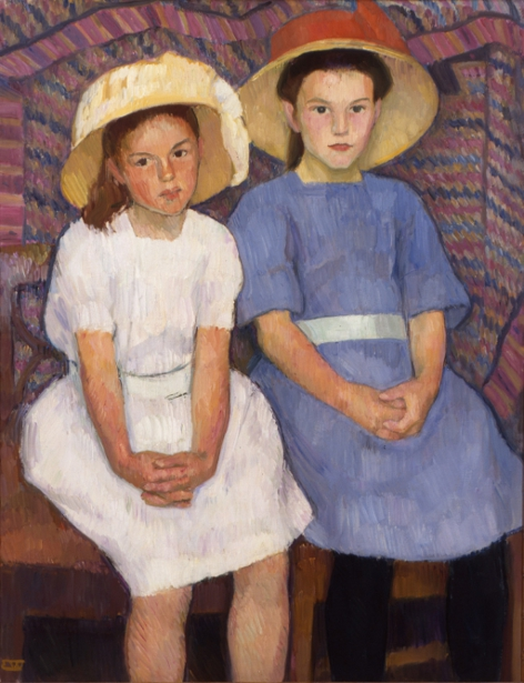 Erik Werenskiold - Two Little Girls