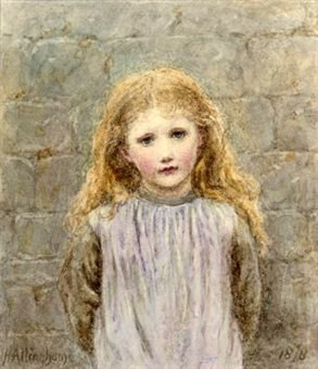 H. Allingham - Young Girl With Flush
