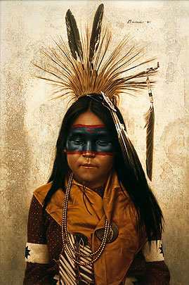 Indian Boy At Crow Fair