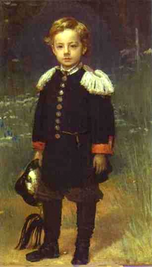 Portrait of Sergey Kramskoy, The Artist's Son