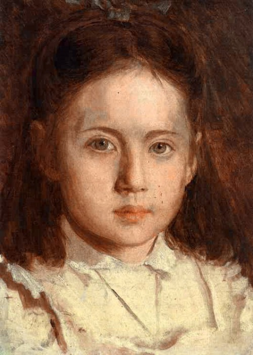 Portrait of Sonya Kramskaya, The Artist's Daughter