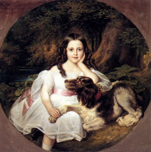 a-young-girl-resting-in-a-landscape-with-her-dog