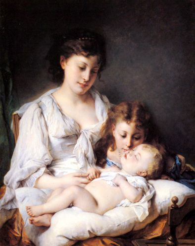 small maternal affection?w394&amph496&amph496 - cute paintings....