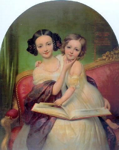 Portrait de Marguerite Louise Cibiel et de Marie Aglaure Cibiel