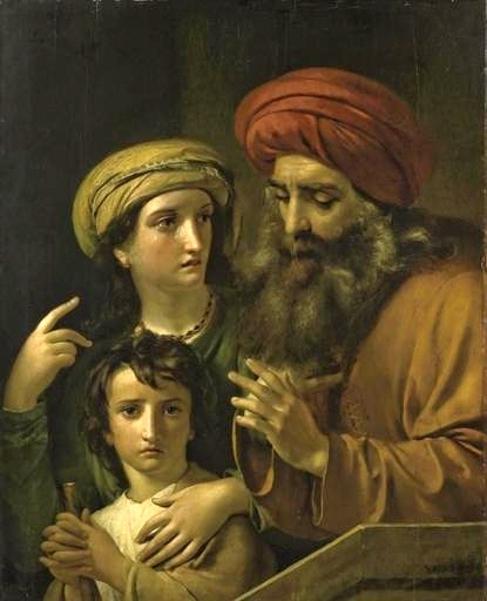 Agar et Ismael chassées par Abraham