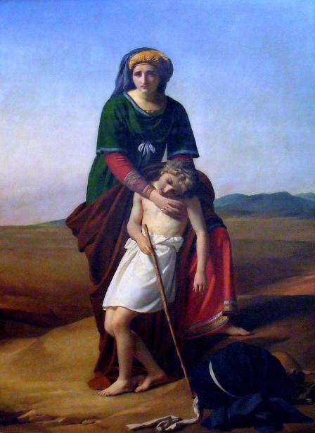 Agar et Ismael dans le desert