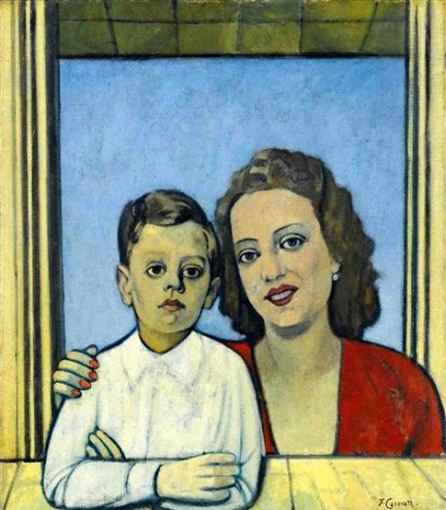 Alberto Orefice e la madre