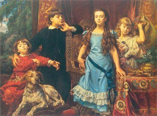 Artist's Children (Jerzy, Tadeusz, Helena, Beata)
