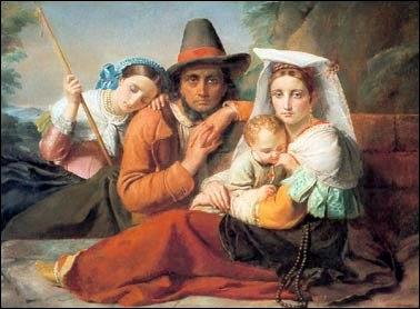 Famille de péllerins