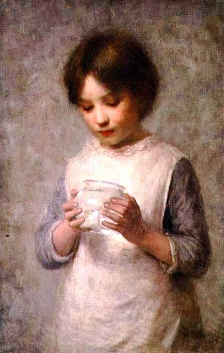 Girl With A Silver Fish