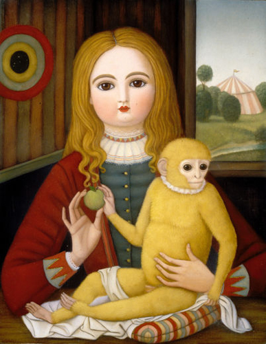 Girl With Monkey