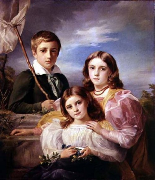 Leon Suys And His Two Sisters