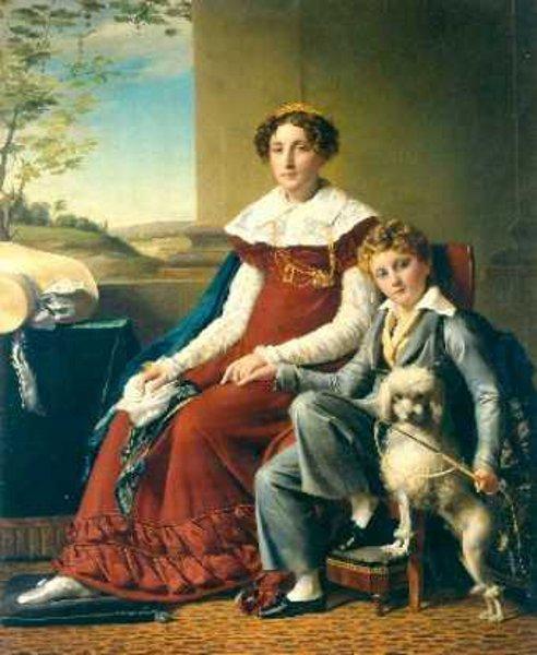 Madame de Vylder et son fils