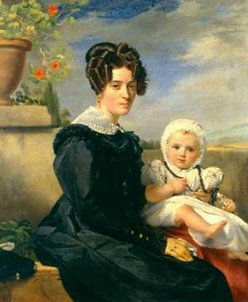 Madame Navez et son fils