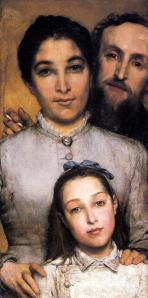 Portrait of Aime-Jules Dalou, His Wife And Daughter