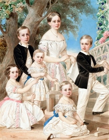 Portrait Of The Children Of The Duke of Leuchtenberg