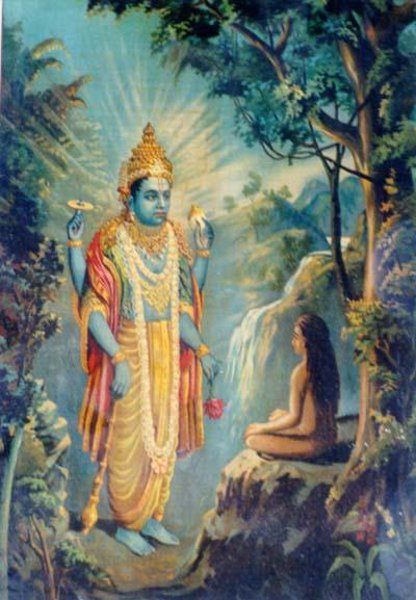 Vishnu Appears Before Dhruv Narayan