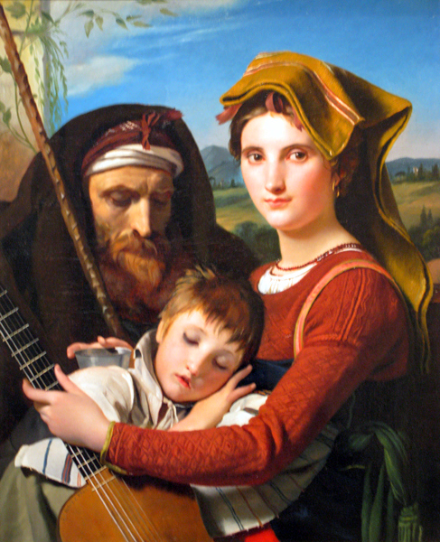 Roman Shepherd Family In The Campagna