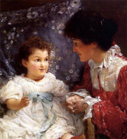 Mrs. Lewis And Her Daughter Elizabeth