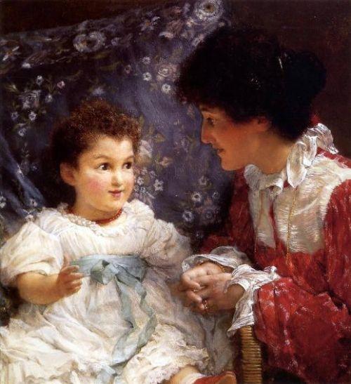 Mrs. Lewis And Her Daughter Elizabeth