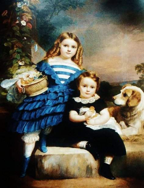 Two Children And A Dog