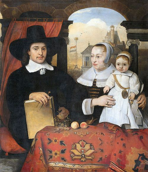 Willem van der Helm With His Wife And Son