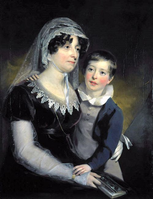 Carolina Oliphant, Baroness Nairne, Songwriter, With Her Son, William Murray Nairne