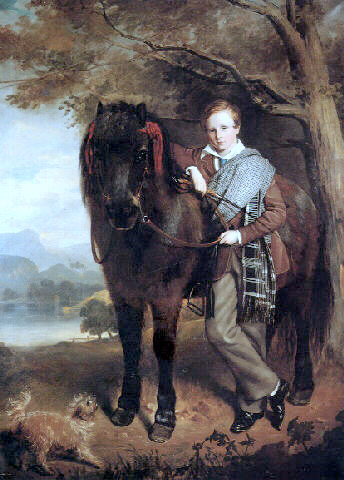 Portrait Of A Young Boy With A Pony