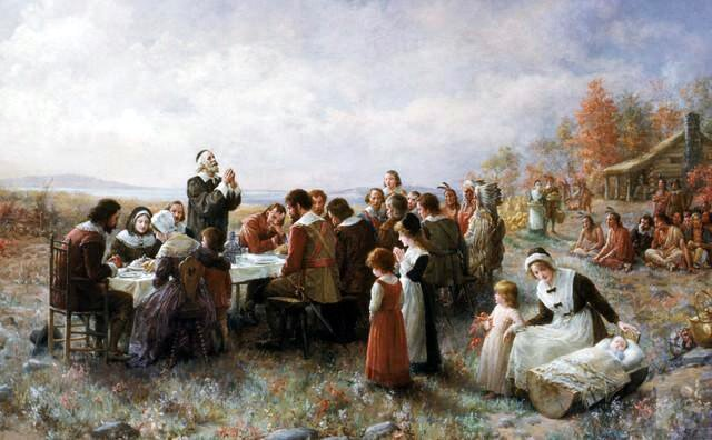 ZThe First Thanksgiving at Plymouth