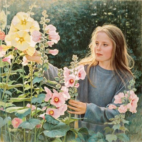 Catherine et les roses