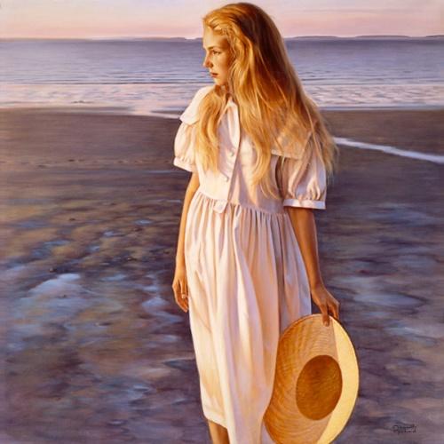 Laila Berthier sur la mer