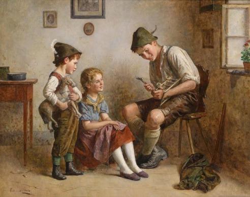EDMUND ADLER (1876-1965) E-adler-repairing-the-little-cart