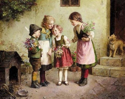 EDMUND ADLER (1876-1965) Edmund-adler-flowers-for-grandmother