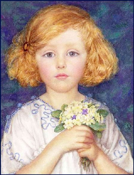 Famous Painting Of A Girl With Blue Bandan