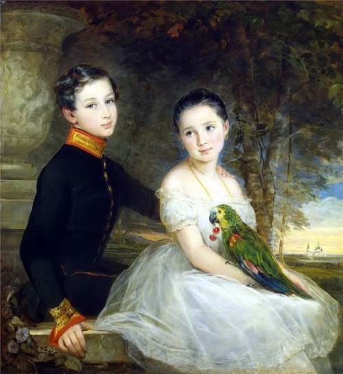 Children With Parrot