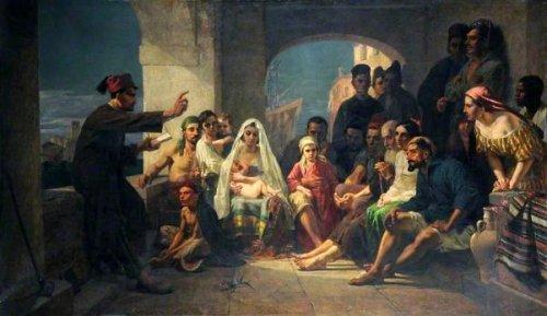 Felice Ballarin Reciting Tasso To The People Of Chioggia