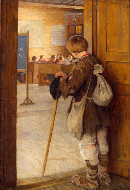 By The School Door - The Reluctant Scholar