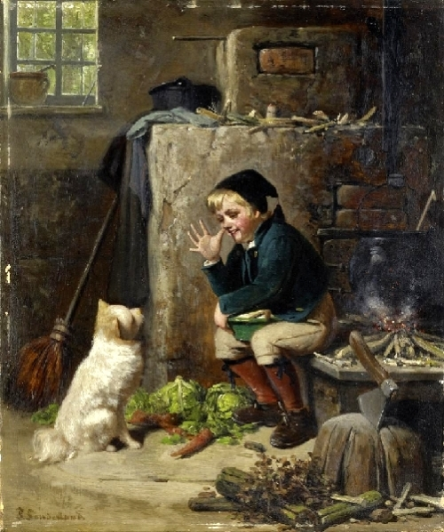 The Kitchen Boy And His Dog