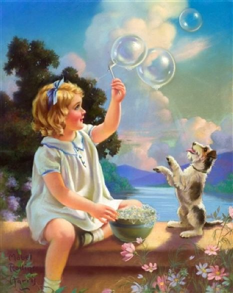 blowing bubbles?w500 - Soooo Cute Paintings
