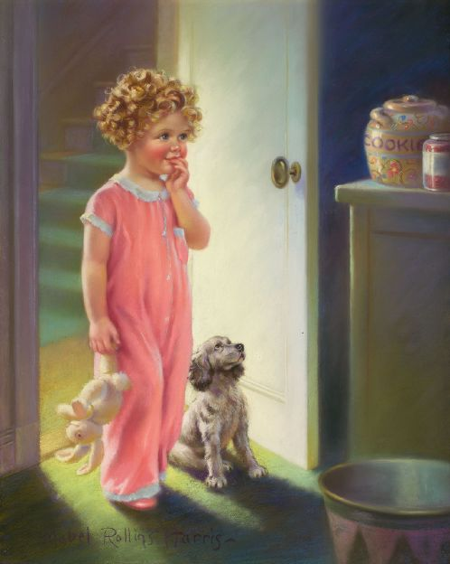 contemplating the cookie jar temptation?w500 - Soooo Cute Paintings