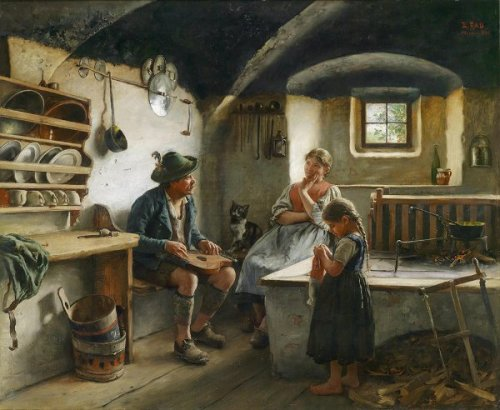 Emil Rau - The Zither Player