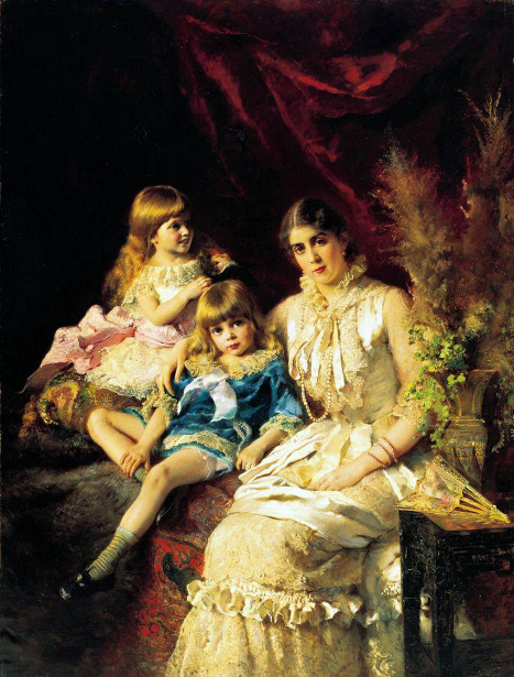Konstantin Makovsky - Family Portrait