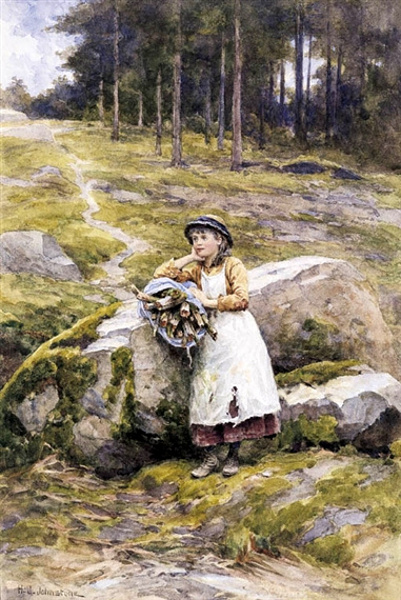 Girl Collecting Wood.bmp